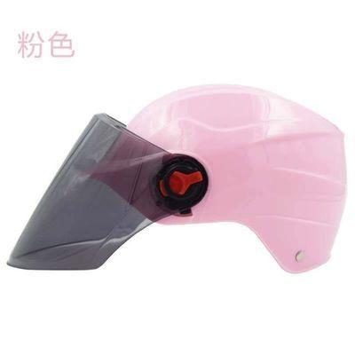 电动车头盔男女士夏季防晒防紫外线遮阳四季盔墨镜非摩托车安全帽