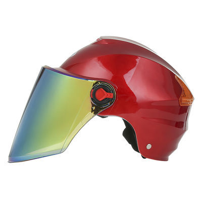 电瓶车安全帽电动车头盔男女夏季通用防晒透气半盔成人防紫外线