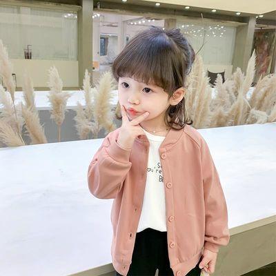 女童外套2020年新款秋装韩版洋气儿童春秋薄款休闲宝宝卡通开衫潮