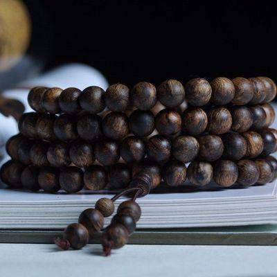 附带证书印尼正区达拉干沉香手串手链纹路清晰香味醇厚