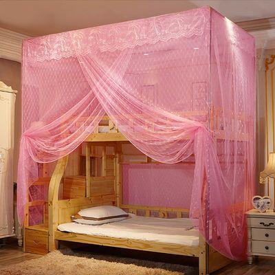 子母床蚊帐上下铺家用儿童小孩学生双层高低床梯柜直梯一体式蚊帐