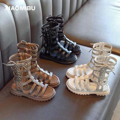 女童凉鞋2020新款时尚中大童凉靴儿童夏季小童女孩软底高筒罗马鞋