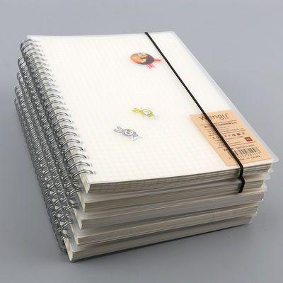 A4线圈笔记本子B5网格本加厚女大学生考研康奈尔方格本英语作业本