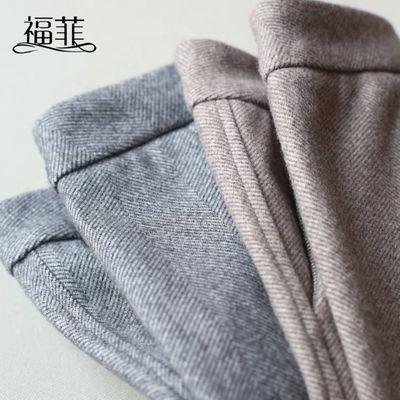 【福菲】2019新款人字纹毛呢哈伦裤女冬季高腰宽松萝卜裤西装裤子
