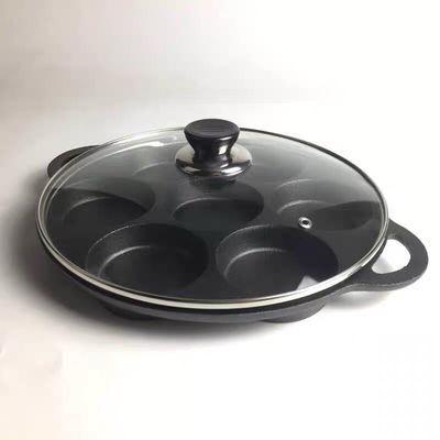 新款七孔铸铁煎蛋锅无涂层不粘锅电磁炉燃气灶通用早餐煎蛋器