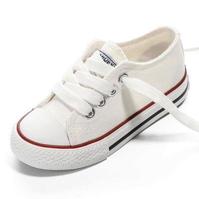 儿童帆布鞋女童鞋子2020春季新款小白鞋男童板鞋宝宝布鞋小童透气