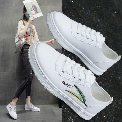 软底小白鞋女学生2020新款夏季薄款韩版百搭ins绣花休闲运动鞋