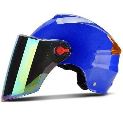 电动车夏季头盔男女通用防晒防紫外线半盔电瓶安全帽非摩托车头盔