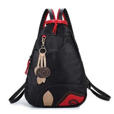 新款女包水洗皮妈妈双肩包韩版胸包旅行PU背包软皮百搭大容量书包