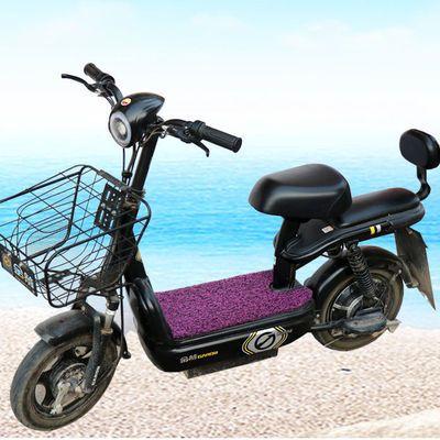 电动车脚垫防滑踩垫电车通用丝圈脚垫电瓶车脚踏垫子自剪DIY防水