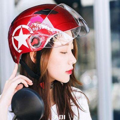 哈雷电动车头盔女夏季透气防晒防紫外线安全帽电瓶摩托车男士头盔
