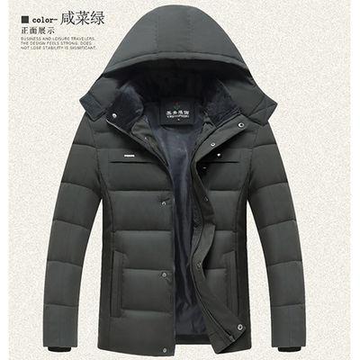 中年男士冬季羽绒棉服加厚保暖外套中老年棉衣男装爸爸装外套棉袄