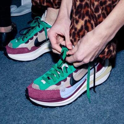 Sacai华夫3代陈冠希同款日式重叠双勾解构联名马拉松厚透气跑步鞋
