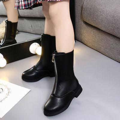 2019新款秋冬季儿童靴子女童高筒长靴小女孩马丁靴中大童雪地棉鞋