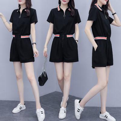 连体裤女2020年夏季新款网红气质时尚休闲显瘦小个子连衣短裤ins