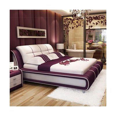 真皮床双人床1.8米现代简约主卧婚床榻榻米1.5米北欧皮艺床