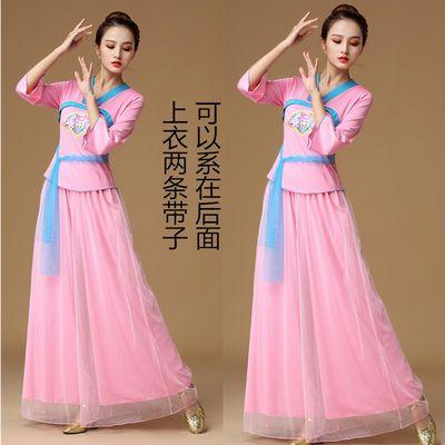 广场舞服装新款套装民族风秧歌舞舞蹈服女2020春夏跳舞服成人演出