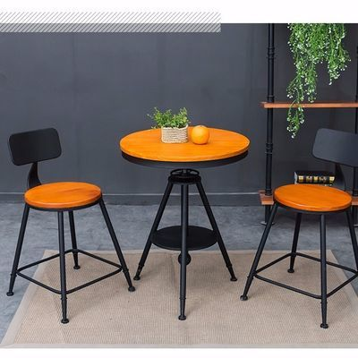 铁艺户外阳台桌椅组合奶茶店咖啡厅小圆桌茶几椅子三件套现代简约