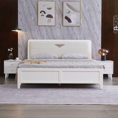 实木双人大床1.8米1.5米软包北欧成人主卧高箱现代简约轻奢风婚床
