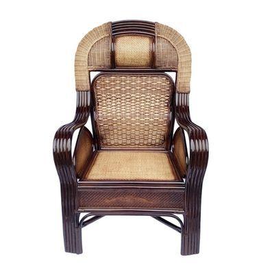 天然藤烤漆护腰藤椅太师椅老板椅老人阳台休闲高靠背电脑办公藤椅