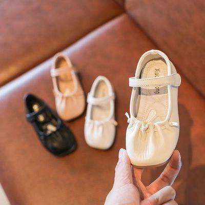 韩版童鞋2020女童春季新款韩版褶皱复古女童皮鞋单鞋气质款公主鞋