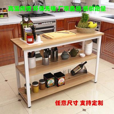 厨房置物架切菜台落地多层家用厨房收纳架微波炉烤箱碗碟整理架