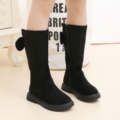 女童靴子秋冬季新款儿童长靴小女孩加绒高筒靴中大童二棉保暖棉鞋