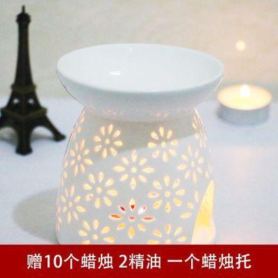 陶瓷大号香薰灯香薰炉创意浪漫蜡烛精油灯卧室家用美容院薰香灯