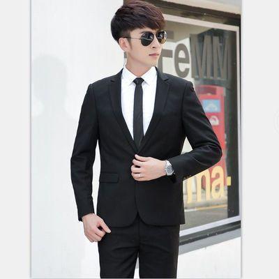 品质修身西装套装男士西服三件套韩版职业商务正装新郎结婚礼服男
