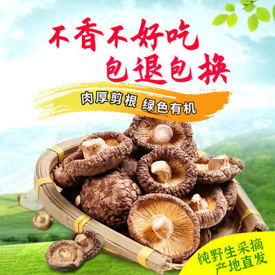 香菇干货特级干香菇新货野生蘑菇冬菇无根土特产山货散装包邮250g