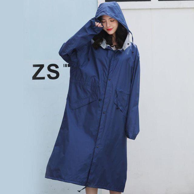 雨衣 女防暴雨成人男时尚徒步长款防水风衣外套韩版全身雨披女潮