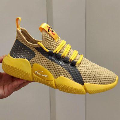 鞋子男鞋新款情侣潮鞋工作透气夏季休闲运动跑步鞋轻便潮流网布鞋