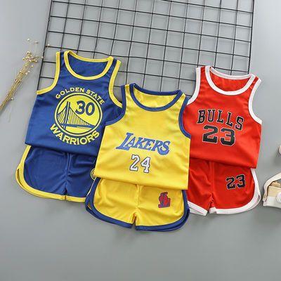 儿童篮球服男童女童运动服1小孩球衣两件套无袖夏季套装速干透气9