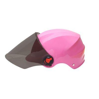 电动车头盔摩托四季防晒防紫外线半盔电瓶车安全帽轻便现货速发