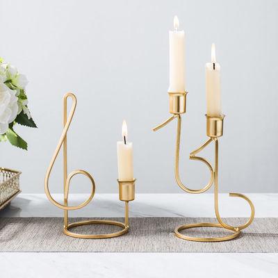 欧式轻奢铁艺烛台家居家用客厅餐桌装饰品家居浪漫香薰蜡烛金色
