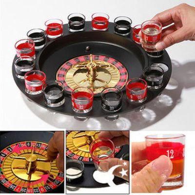 俄罗斯转盘KTV酒吧夜店用品喝酒游戏娱乐道具聚会玩具轮盘16杯