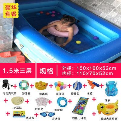 婴儿童游泳池配件游泳池扶梯儿童楼梯充气过滤泵加厚抽水泵排水泵