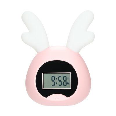 闹钟可充电可爱卡通懒人学生用电子计时器儿童专用夜光简约少女心