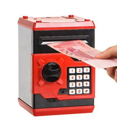 网红创意儿童存款机抖音款存钱罐储蓄密码箱指纹保险盒自动储钱柜
