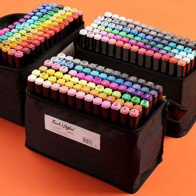 BigRooster马克笔套装便宜小学生双头12/24/36/48色touch画画笔全