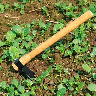 EMMALADY农用小锄头园林户外耙子农具锄镐钓鱼除草锄草种菜短木柄
