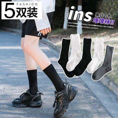 袜子女韩版中筒男女同款情侣袜纯色长筒袜女夏袜子男夏季薄款长袜