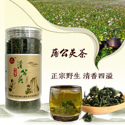 华山特产清热去火熬夜护肝野生蒲公英绿茶罐装美白养颜养生茶叶