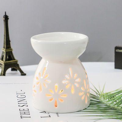 小巧蜡烛熏香陶瓷空气净化精油熏香粉香薰炉香薰灯卧室家用精油灯