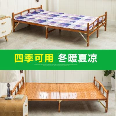 BESTWOLF竹床折叠床单人床家用午休床简易床午睡双人实木板式成人