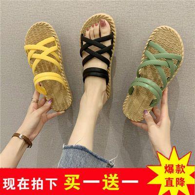 新款凉拖鞋女夏外穿百搭韩版ins网红罗马风格厚底沙滩时尚女拖鞋