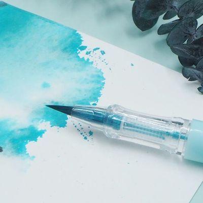 【口袋毛笔送50支墨囊】瘦金秀丽笔小楷钢笔式软头水彩笔绘画勾线