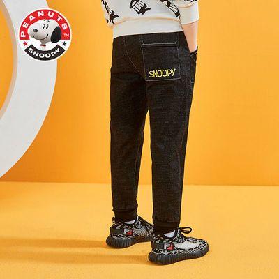 史努比儿童牛仔裤男春秋新款12岁中大童帅气韩版宽松休闲长裤子潮