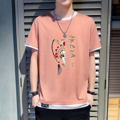 高品质棉国潮t恤男装2020新款潮男衣服潮牌短袖男青少年短袖t恤