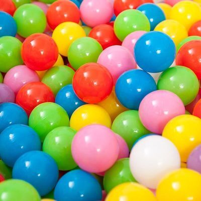 波波球海洋球加厚气球玩具球宝宝婴儿彩色球儿童弹力球粉色球球